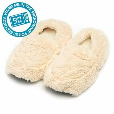 Microwaveable Slippers Ivory