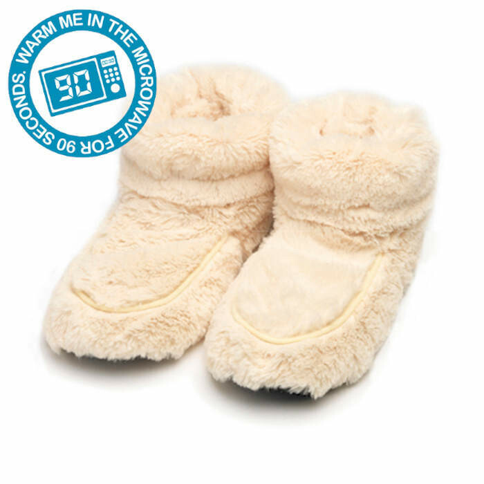 Microwaveable Bootees Ivory