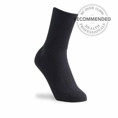 Cosyfeet Fuller Fitting Socks Black