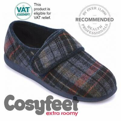 Cosyfeet Reggie Russet Check Mens Slippers