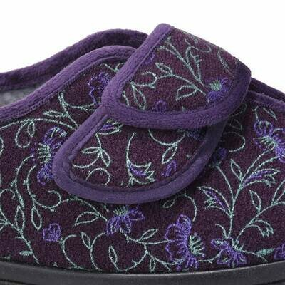 Cosyfeet Diane Plum Floral Strap Extensions