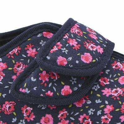 Cosyfeet Sally Navy Pink Floral Strap Extensions