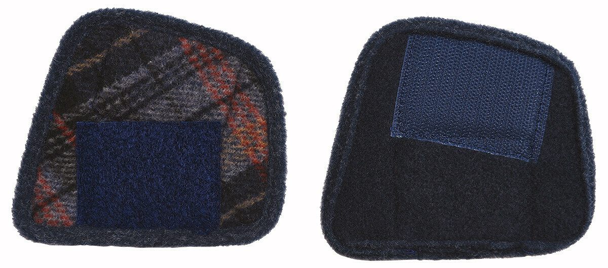 Cosyfeet Robbie Navy Russet Check Slipper Extensions