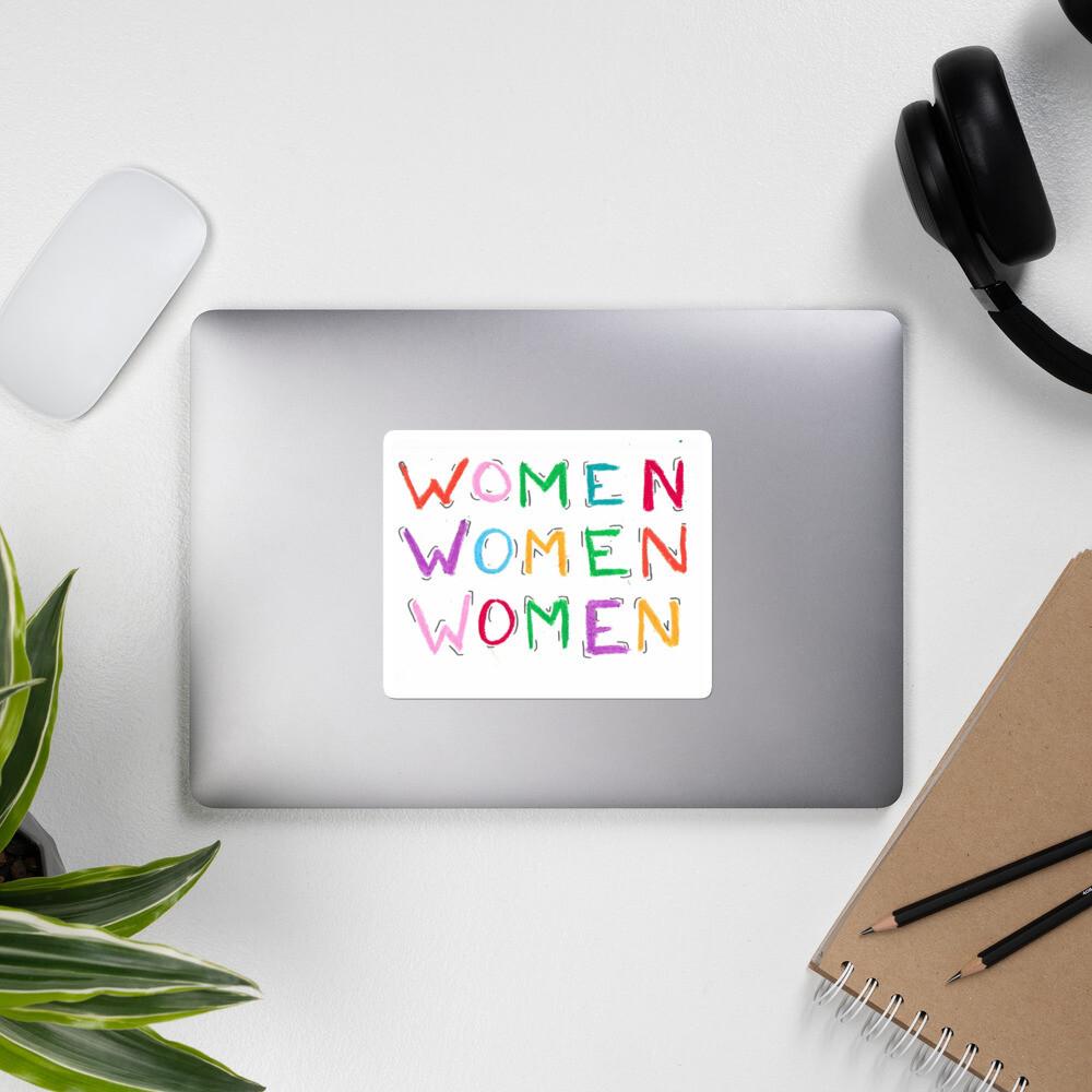 Women Bubble-free stickers