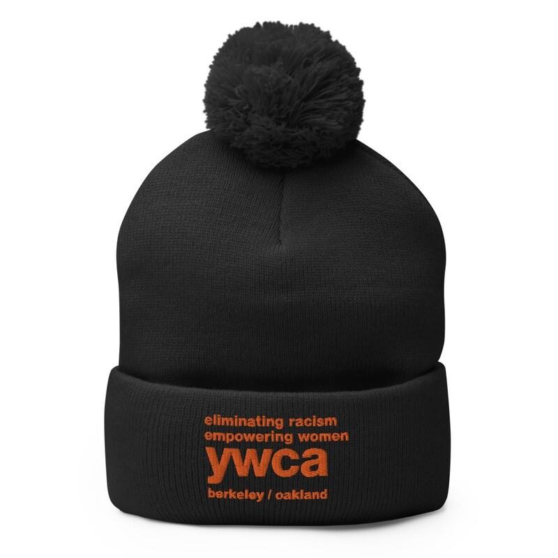 YWCA Persimmon Pom-Pom Beanie