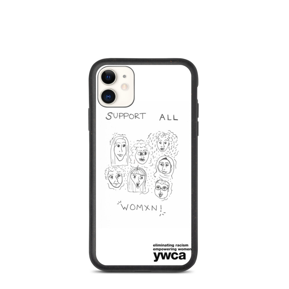 Support All Women Biodegradable phone case