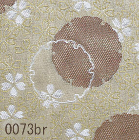 Japanese woven fabric Kinran  0073br