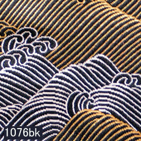 Japanese woven fabric Kinran  1076bk