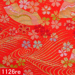 Japanese woven fabric Kinran  1126re