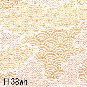 Japanese woven fabric Kinran  1138wh