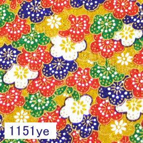 Japanese woven fabric Chirimen  1151ye