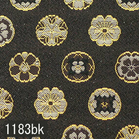 Japanese woven fabric Kinran  1183bk