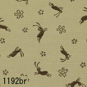 Japanese woven fabric Kinran  1192br