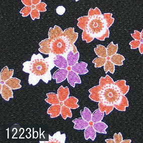 Japanese woven fabric Chirimen  1223bk