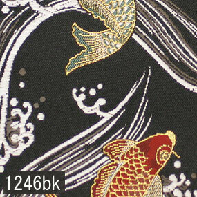 Japanese woven fabric Kinran  1246bk