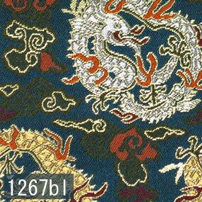 Japanese woven fabric Kinran  1267bl