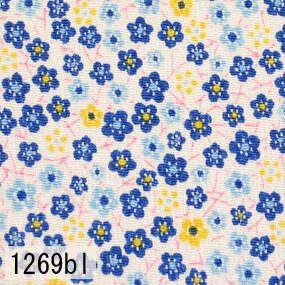 Japanese woven fabric Chirimen  1269bl