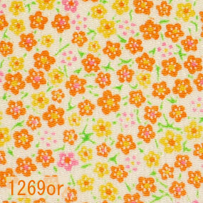 Japanese woven fabric Chirimen  1269or