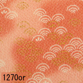 Japanese woven fabric Chirimen  1270or