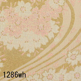 Japanese woven fabric Kinran  1286wh