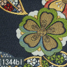 Japanese woven fabric Kinran  1344bl