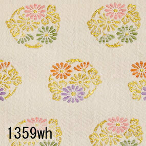 Japanese woven fabric Kinran  1359wh