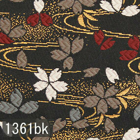 Japanese woven fabric Kinran  1361bk