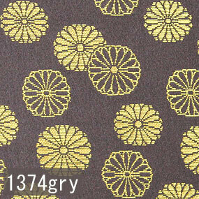 Japanese woven fabric Kinran  1374gry