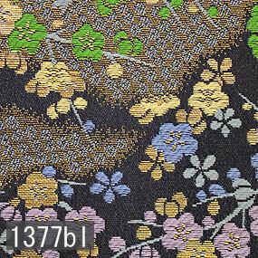 Japanese woven fabric Kinran  1377bl
