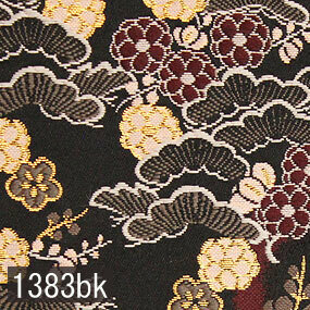 Japanese woven fabric Kinran  1383bk