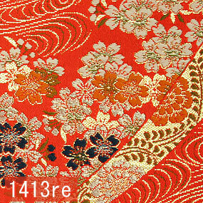 Japanese woven fabric Kinran  1413re