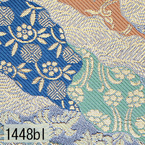 Japanese woven fabric Kinran  1448bl