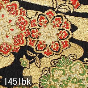 Japanese woven fabric Kinran  1451bk
