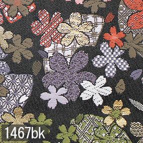 Japanese woven fabric Kinran  1467bk