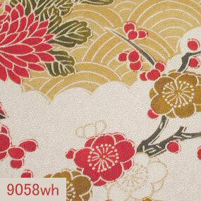 Japanese woven fabric Yuzen  9058wh
