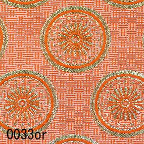 Japanese woven fabric Kinran  0033or