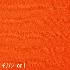 Japanese crepe fabric Oni Chirimen-or-1