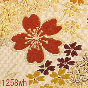 Japanese woven fabric Kinran  1258wh