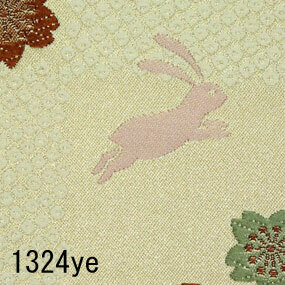 Japanese woven fabric Kinran  1324ye