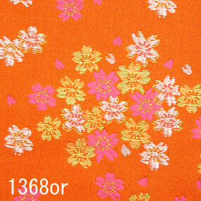 Japanese woven fabric Kinran  1368or