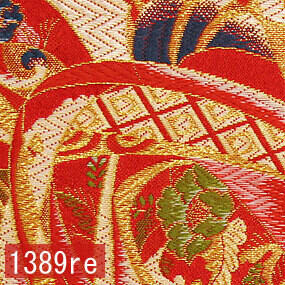 Japanese woven fabric Kinran  1389re