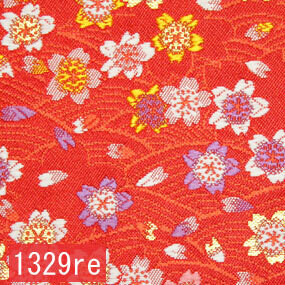 Japanese woven fabric Kinran  1329re