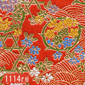 Japanese woven fabric Kinran  1114re