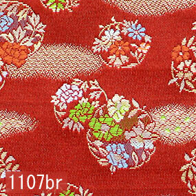Japanese woven fabric Kinran  1107br