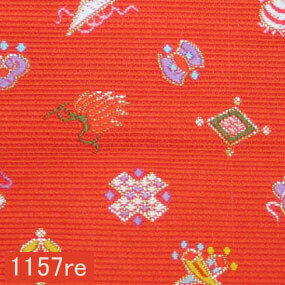 Japanese woven fabric Kinran  1157re