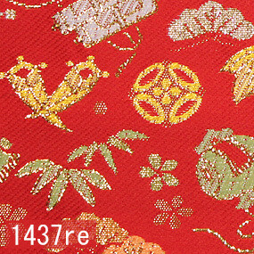 Japanese woven fabric Kinran  1437re
