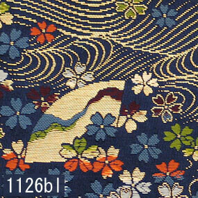 Japanese woven fabric Kinran  1126bl