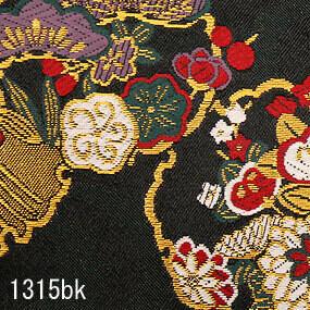Japanese woven fabric Kinran  1315bk