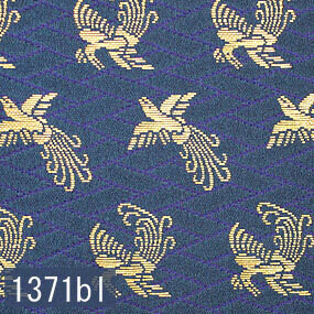 Japanese woven fabric Kinran  1371bl