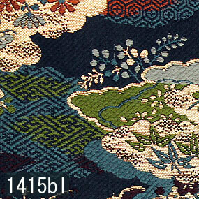 Japanese woven fabric Kinran  1415bl